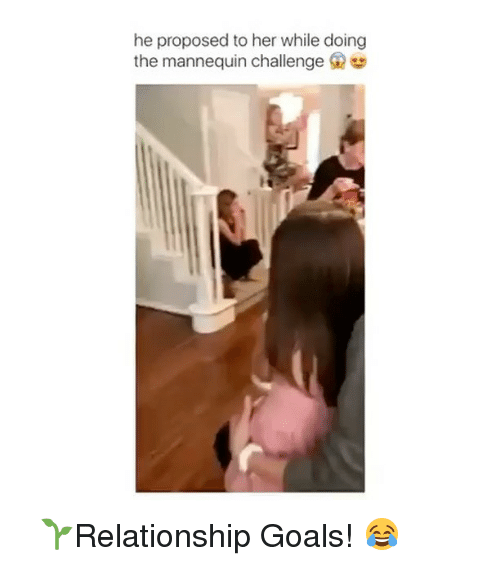 Memes, Relationship Goals, and Mannequin: he proposed to her while doing  the mannequin challenge G ⠀ 🌱Relationship Goals! 😂