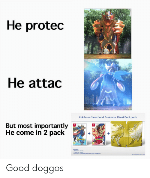 He Protec He Attac Pokemon Sword And Pokemon Shield Dual Pack But
