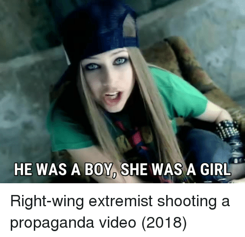 Girl, Propaganda, and Video: HE WAS A BOY, SHE WAS A GIRL Right-wing extremist shooting a propaganda video (2018)