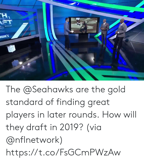 Memes, Seahawks, and 🤖: HE  WES  NFI The @Seahawks are the gold standard of finding great players in later rounds.  How will they draft in 2019? (via @nflnetwork) https://t.co/FsGCmPWzAw