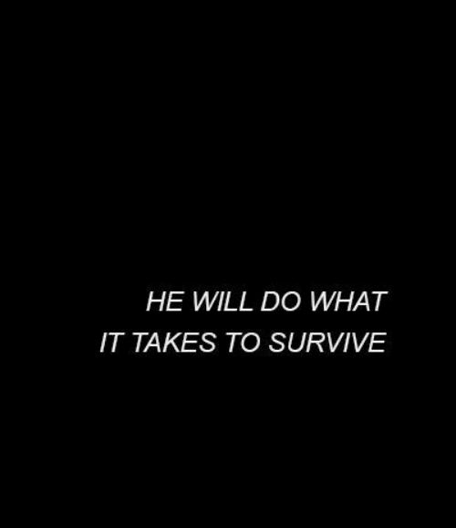 Will, What, and Will Do: HE WILL DO WHAT  IT TAKES TO SURVIVE