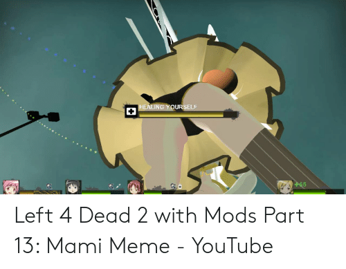 HEALING YOURSELF 65 Left 4 Dead 2 With Mods Part 13 Mami Meme