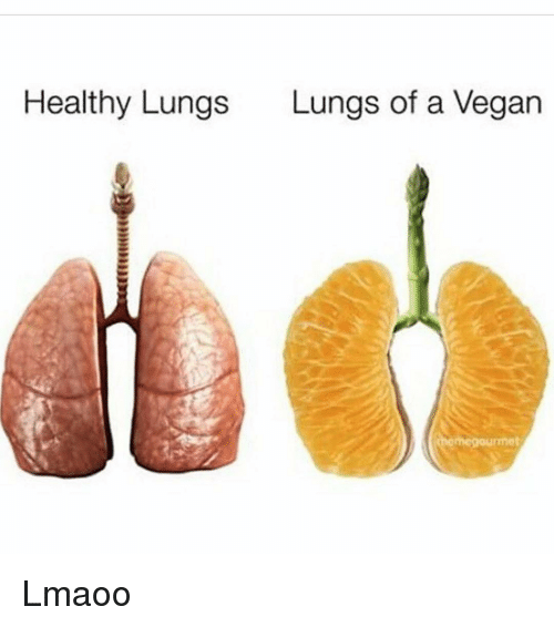 Funny, Vegan, and A Vegan: Healthy Lungs  Lungs of a Vegan Lmaoo