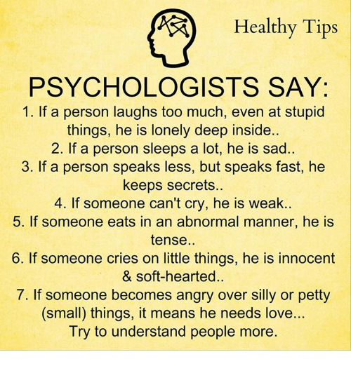 Healthy Tips PSYCHOLOGISTS SAY 1 if a Person Laughs Too ...