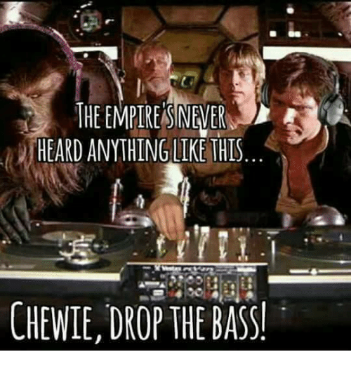 Memes, 🤖, and Bass: HEARD ANYTHINGLIKE THIS  CHEWIE, DROP THE BASS!