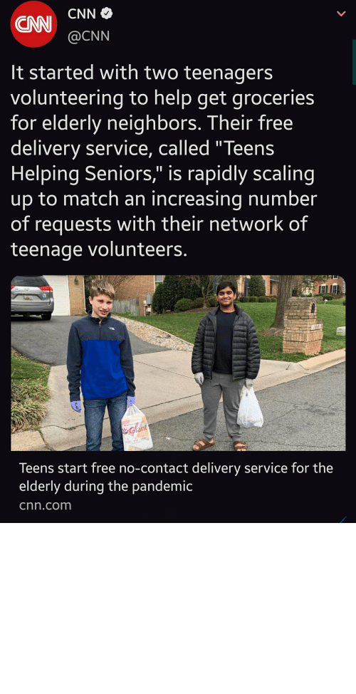 Heartwarming story where people not old enough to vote are the only ones taking responsibility to feed and care for the elderly!