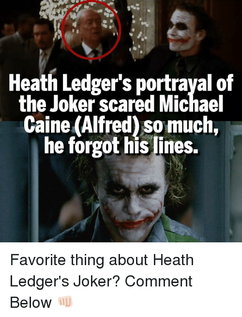 heath ledgers portrayal of the joker scared michael caine alfred 7886109 heath ledger's portrayal of the joker scared michael caine alfred so