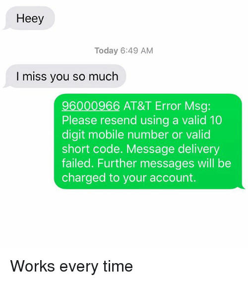 Heey Today 649 AM I Miss You So Much 96000966 AT&T Error Msg