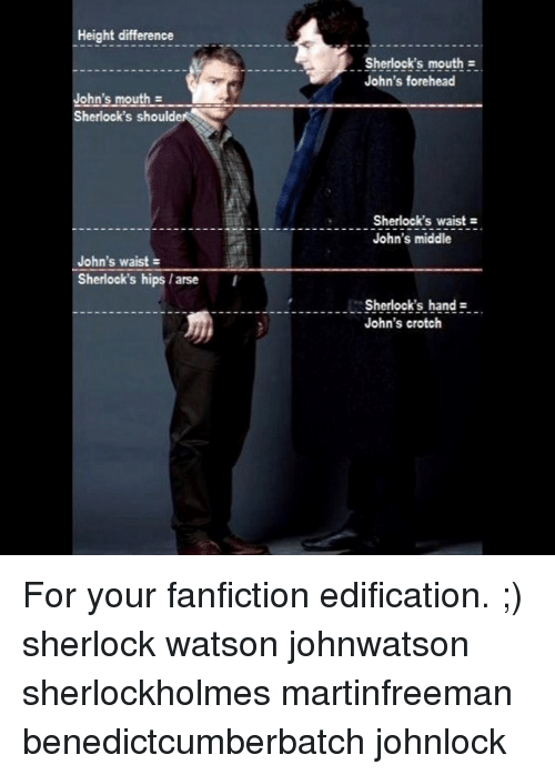 Height Difference John's Mouth Z Sherlock's Should John's