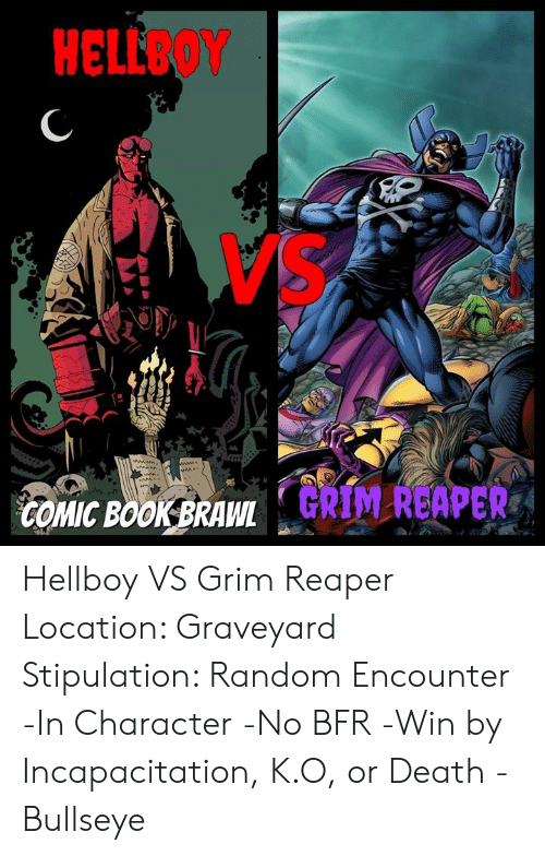 Hellboy Comic Bookbrawlk Hellboy Vs Grim Reaper Location Graveyard