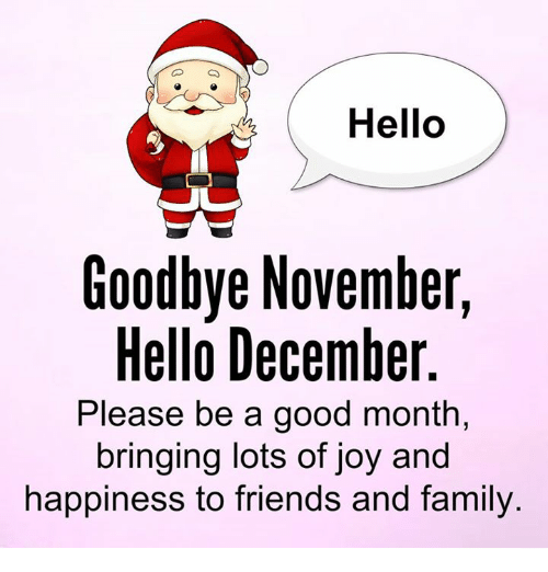 hello goodbye hello please be a good month
