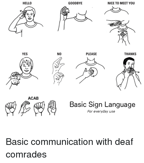nice to meet u in asl sign