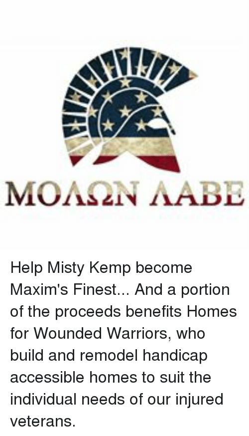 Help Misty Kemp Become Maxim's Finest and a Portion of the