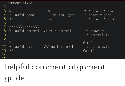 Guide, Comment, and Helpful: helpful comment alignment guide