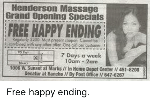 happy ending massage