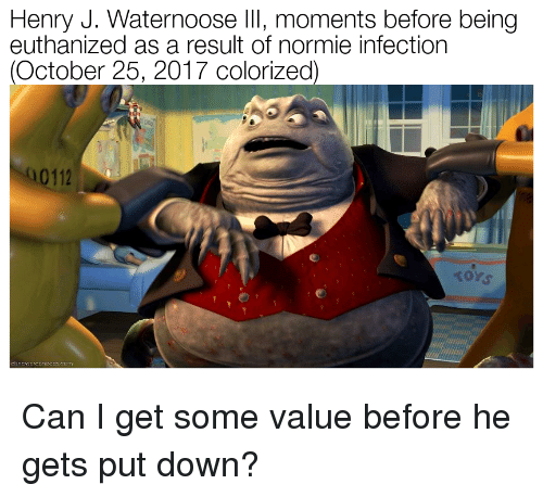 normie can and down henry j waternoose iii moments before being