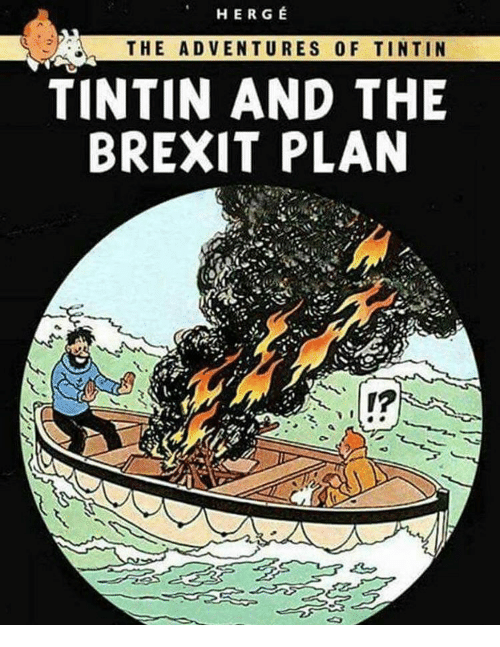 her g the adventures of tintin tintin and the brexit 13526390 her g the adventures of tintin tintin and the brexit plan meme