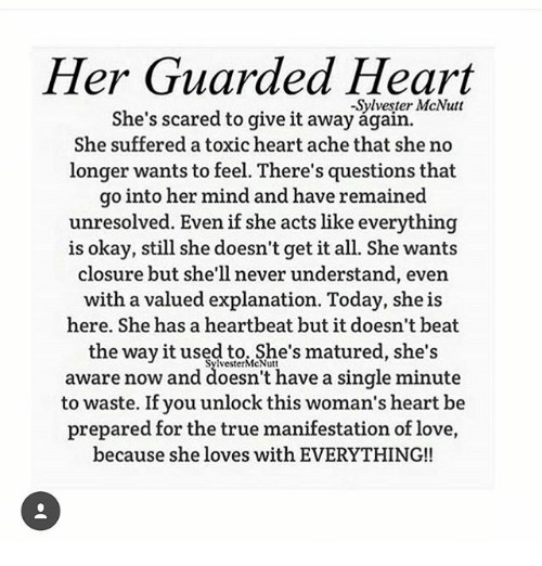 her guarded heart sylvester mcnutt she s scared to give it away
