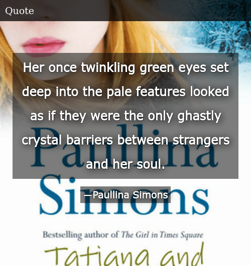 Her Once Twinkling Green Eyes Set Deep Into the Pale ...