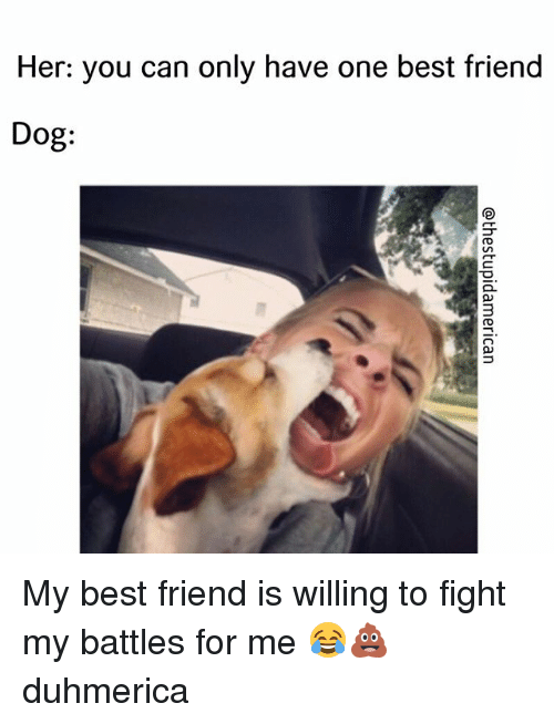 her you can only have one best friend dog my best friend is willing