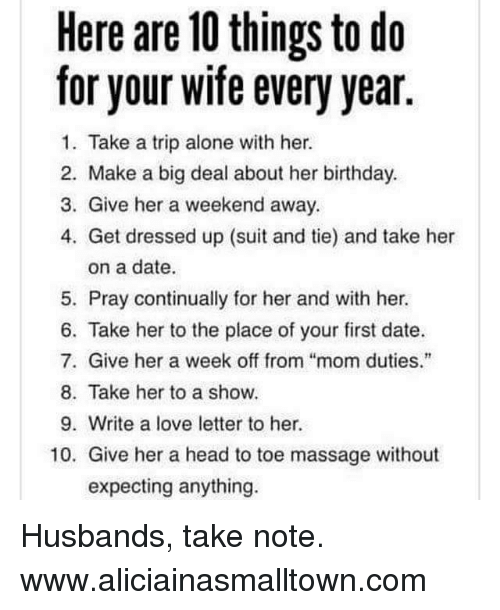Things to do for her birthday