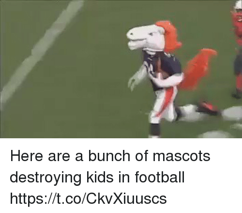 Football, Memes, and Kids: Here are a bunch of mascots destroying kids in football https://t.co/CkvXiuuscs