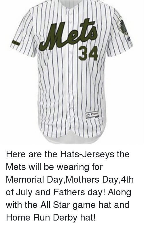 big sale 4bc3a 10ad1 Here Are the Hats-Jerseys the Mets Will Be Wearing for ...