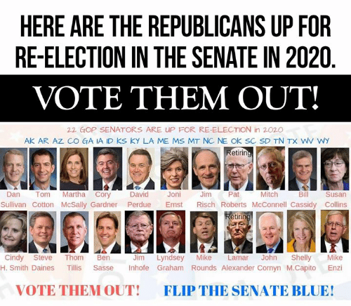 List Of Senators Up For Reelection In 2020.Here Are The Republicans Up For Re Election In The Senate In