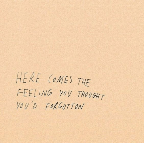 Thought, You, and Feeling: HERE COMES THE  FEELING YoU THOUGHT  You D FoKCOTTON