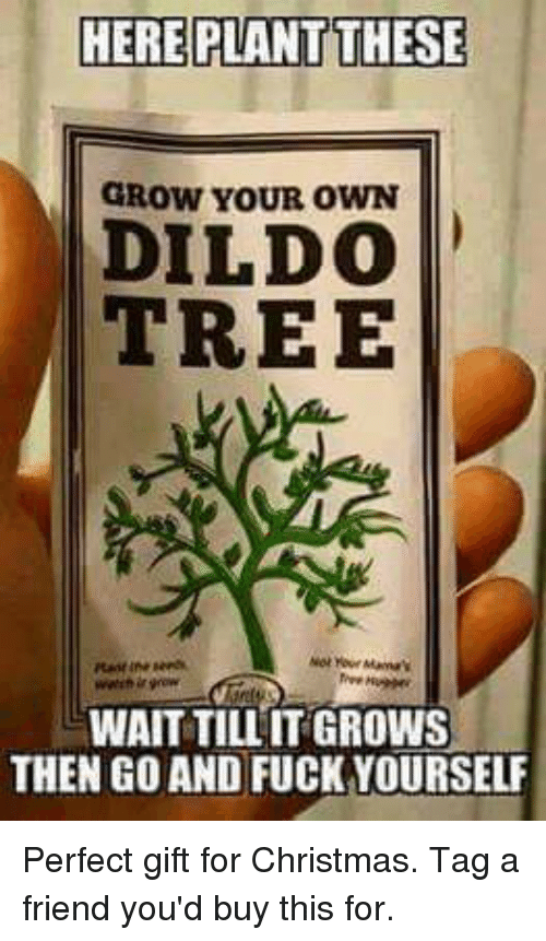 HERE PlANT THESE GROW YOUR OWN DILDO TREE WAIT TILL ITGROWS THEN ...