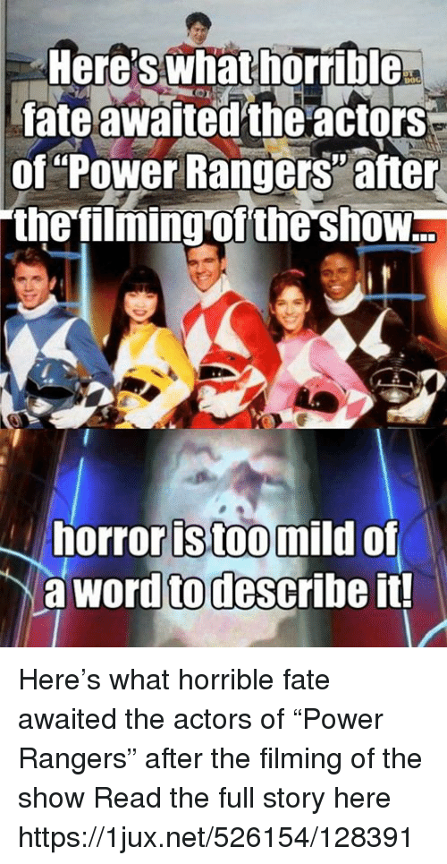Here S What Norrible A Fate Awaited The Actors Of Power Rangers