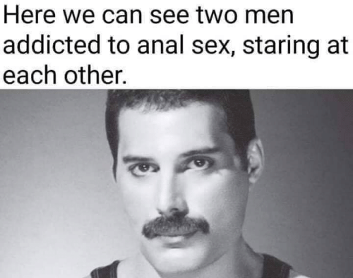 Anal Sex, Sex, and Addicted: Here we can see two men  addicted to anal sex, staring at  each other.