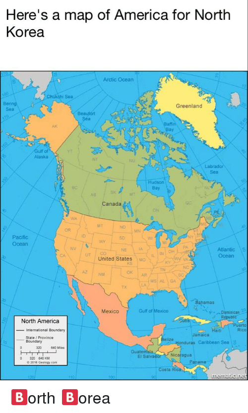 Heres A Map Of America For North Korea Arctic Ocean Hukchi Sea - Pacific-ocean-on-us-map