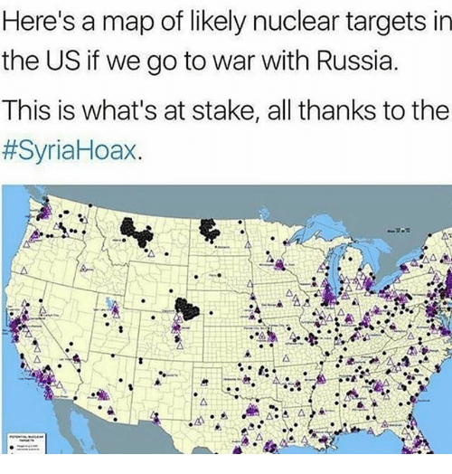 Heres A Map Of Likely Nuclear Targets In The Us If We Go To War - Nuclear-map-us