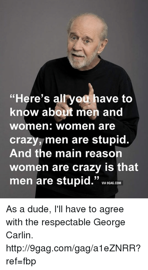 Stupid about men