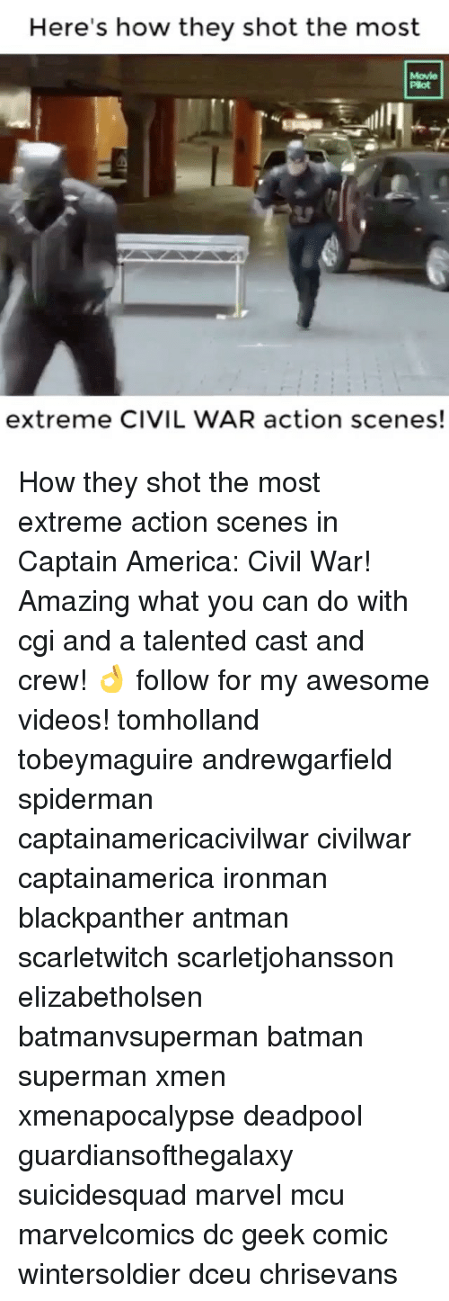 Batman, Captain America: Civil War, and Memes: Here's how they shot the most  extreme CIVIL WAR action scenes! How they shot the most extreme action scenes in Captain America: Civil War! Amazing what you can do with cgi and a talented cast and crew! 👌 follow for my awesome videos! tomholland tobeymaguire andrewgarfield spiderman captainamericacivilwar civilwar captainamerica ironman blackpanther antman scarletwitch scarletjohansson elizabetholsen batmanvsuperman batman superman xmen xmenapocalypse deadpool guardiansofthegalaxy suicidesquad marvel mcu marvelcomics dc geek comic wintersoldier dceu chrisevans