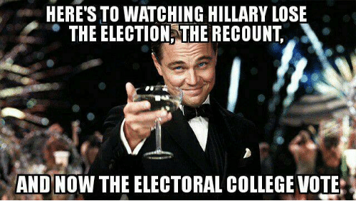 heres to watching hillary lose the election the recount and 9653620 ✅ 25 best memes about hillary loses hillary loses memes
