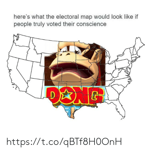 Conscience, Map, and What: here's what the electoral map would look like if  people truly voted their conscience https://t.co/qBTf8H0OnH