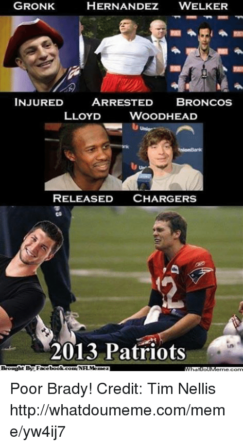 hernandez welker gronk injured arrested broncos lloyd woodhead released chargers 18372094 ✅ 25 best memes about gronked gronked memes
