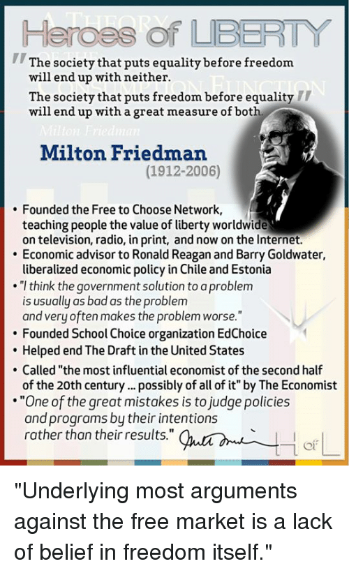 what is milton freedman's argument against The corporate social responsibility debate   theodore levitt and milton friedman become irrelevant in the modern era  argument voiced against stakeholder .