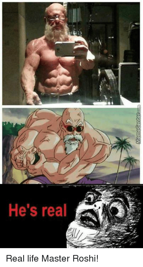 25 Best Memes About Real Life Master Roshi Real Life Master