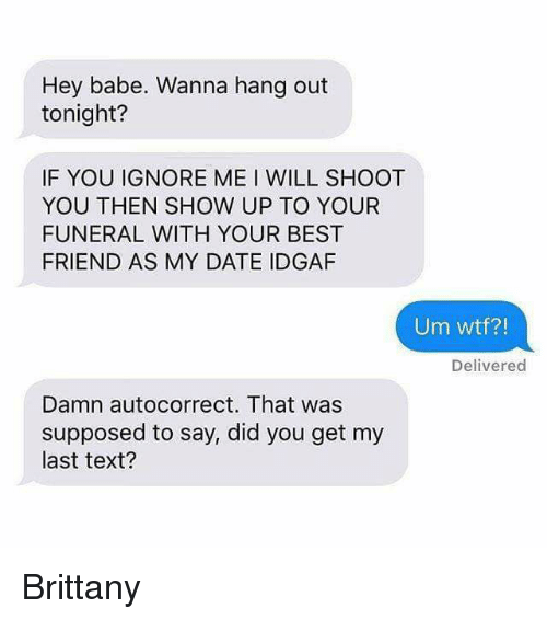 Autocorrect dating meme