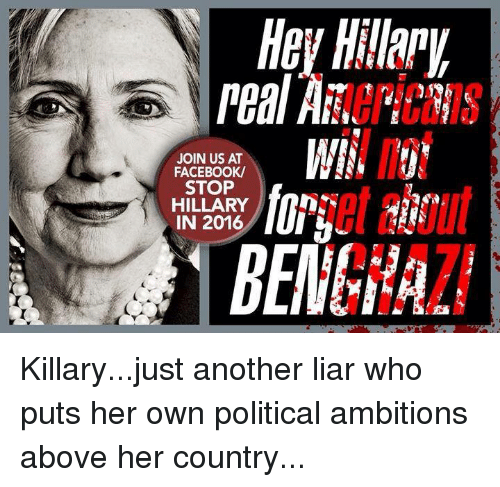 Hey Hillapua Peal Aa Join Us At Facebook Stop Hillary In 2016