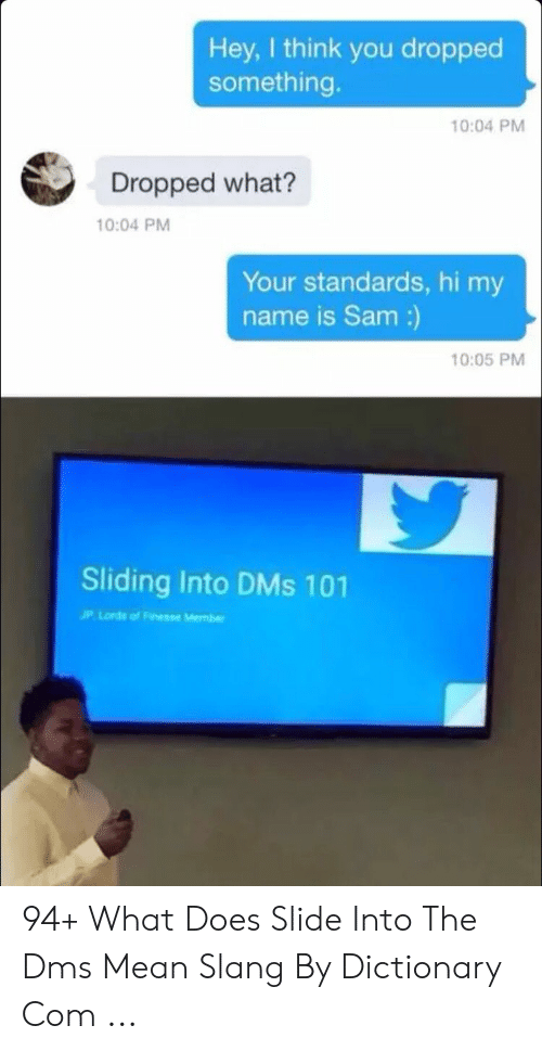 What does sliding into dms mean