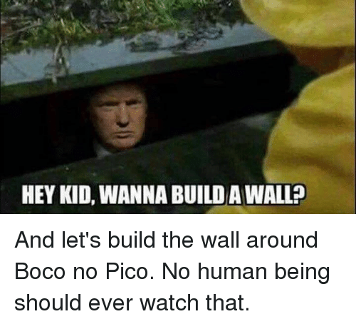 HEY KID WANNA BUILDAWALL and Let's Build the Wall Around