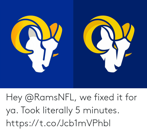 Football, Nfl, and Sports: Hey @RamsNFL, we fixed it for ya. Took literally 5 minutes. https://t.co/Jcb1mVPhbl