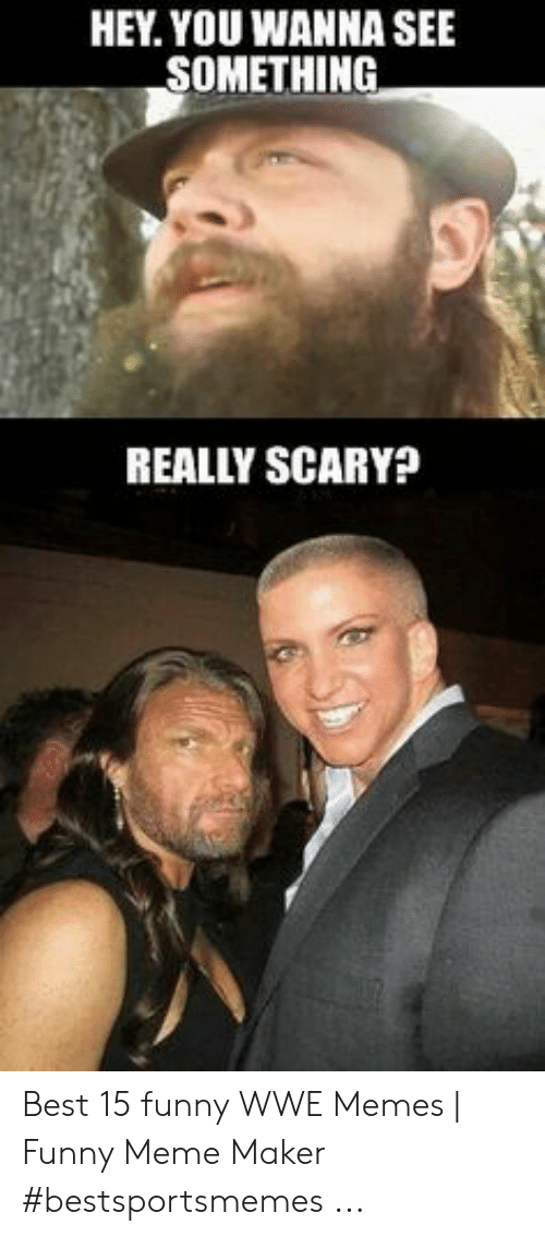 HEY YOU WANNA SEE SOMETHING REALLY SCARY? Best 15 Funny WWE