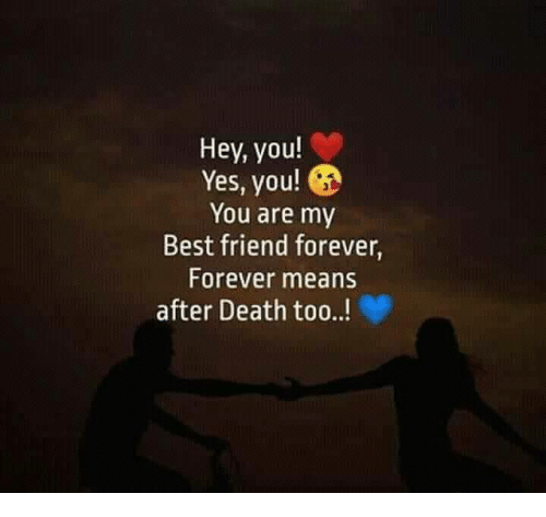 Hey You Yes You You Are My Best Friend Forever Forever Means After