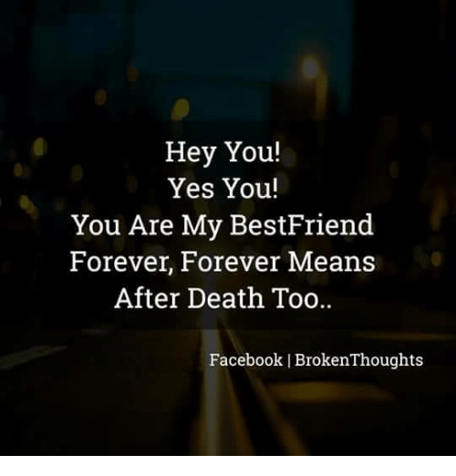 Hey You Yes You You Are My Bestfriend Forever Forever Means After