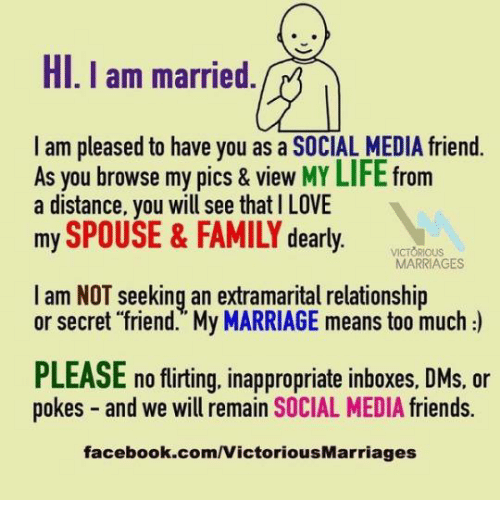 HI I Am Married I Am Pleased to Have You as a SOCIAL MEDIA